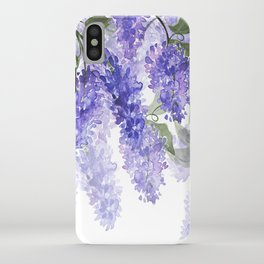 Purple Wisteria Flowers iPhone Case