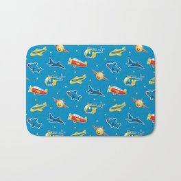Cute plane pattern Bath Mat