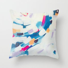 Blue Sweeps 3 Throw Pillow