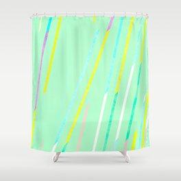fresh thin strips / neon Shower Curtain
