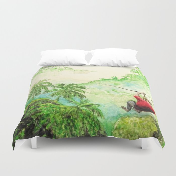 Zip Line Watercolor Duvet Cover By Meganemerwhite Society6