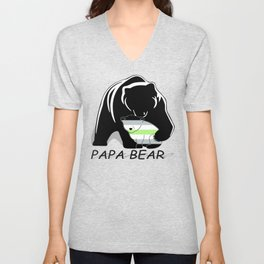 Papa Bear Agender Unisex V-Neck