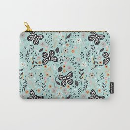 Flowers and butterflies pattern 002 Carry-All Pouch