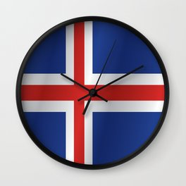 Flag of Iceland Wall Clock