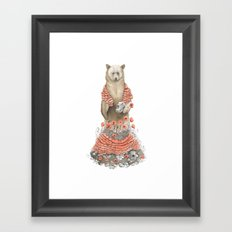 The Bear and the Poppies Framed Art Print