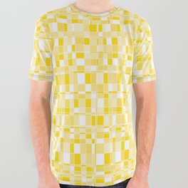 Mod Gingham - Yellow All Over Graphic Tee