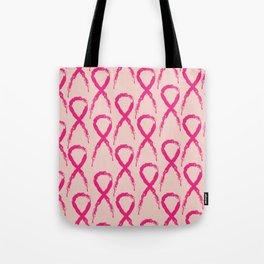 Grunge pink ribbon Tote Bag