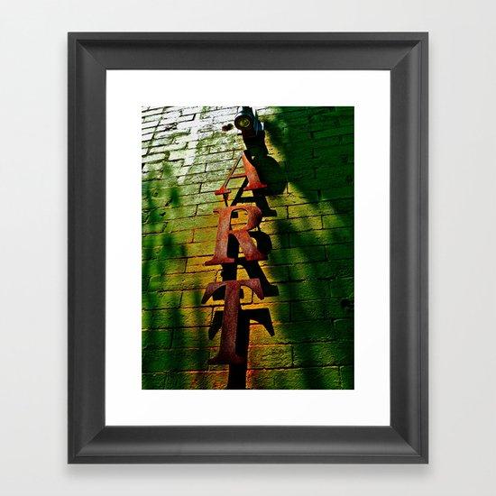 Art on Bricks Framed Art Print