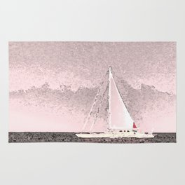 """Sailboat #8"" Art of the Sea by Murray Bolesta Rug"