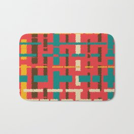 Colorful line segments Bath Mat