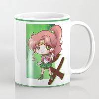 sailor jupiter Mugs featuring Jupiter by Lady Cibia
