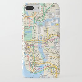 nyc metro city subway map iPhone Case