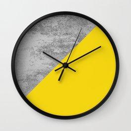 Simply Concrete Mod Yellow Wall Clock