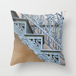 Savannah Blue Staircase Throw Pillow