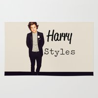 harry styles Area & Throw Rugs featuring Harry Styles by Marianna