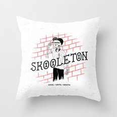 Skooleton Throw Pillow