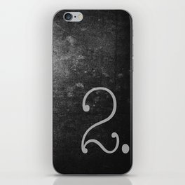 NUMBER 2 BLACK iPhone Skin