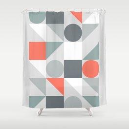 Mid Century Modern Geometric 02 Shower Curtain