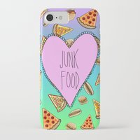 junk food iPhone & iPod Cases featuring JUNK FOOD by SteffiMetal