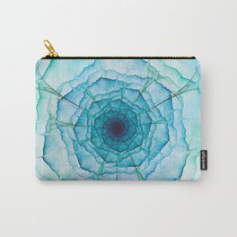 Aqua-green marine flower Carry-All Pouch