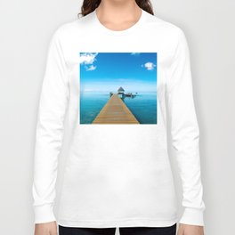 Tahiti Boat Dock Long Sleeve T-shirt