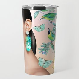 Gia in the Jungle - Pink Travel Mug