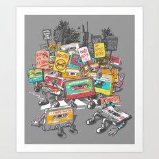 Digital Ruins Our Life Art Print