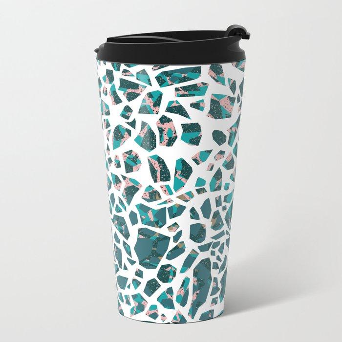 Grace Terrazzo Metal Travel Mug