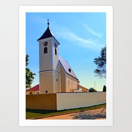The village church of Sankt Stefan IV | architectural photography Art Print
