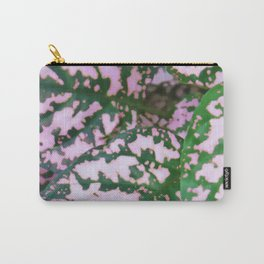 Green and pink leafed plant Carry-All Pouch