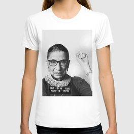 RBG Ruth Bader Ginsburg Drawing Jane Fonda Mug Shot Mugshot T-shirt