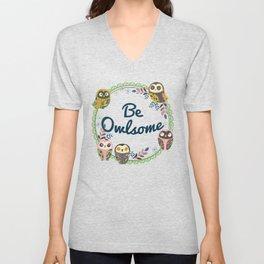 Be Owlsome Round Unisex V-Neck