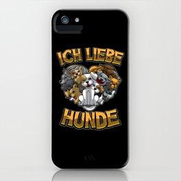 Ich liebe Hunde - Hundebesitzer Statement iPhone Case