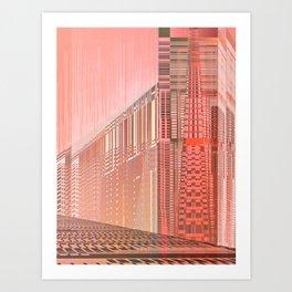 Pinky Space / URBAN 25-07-16 Art Print