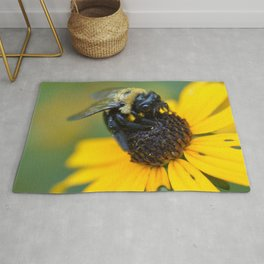 bee yellow Rug