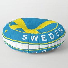 Sweden, Stockholm, circle Floor Pillow