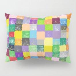 Pixelated Patchwork Pillow Sham