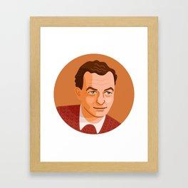 Queer Portrait - Benjamin Britten Framed Art Print
