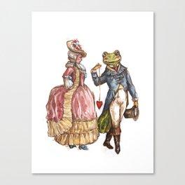 Rococo Frog Prince Canvas Print