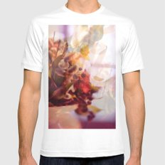 flowers MEDIUM White Mens Fitted Tee
