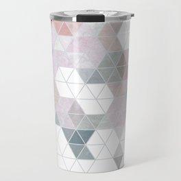 Abstract Snow on Soft Geometry #abstractart #winterart Travel Mug