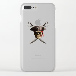 Pirate Skull And Swords Clear iPhone Case