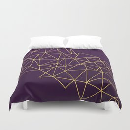 Ultra Purple Geo Duvet Cover