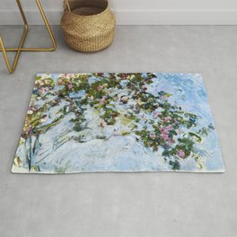"Claude Monet ""The Rose Bush"" Rug"