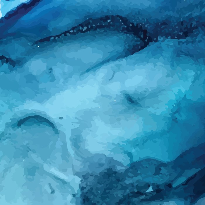 White Sand Blue Sea - Alcohol Ink Painting Leggings