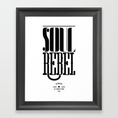 soul rebel Framed Art Print