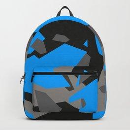 Black\Grey\Blue Geometric Camo Backpack