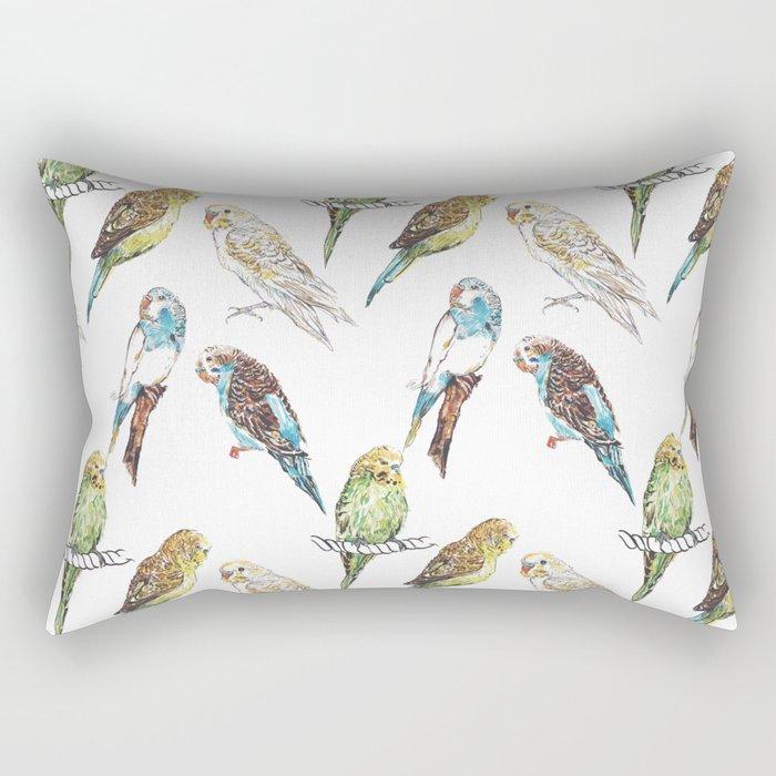 Budgies Budgies Budgies Rectangular Pillow