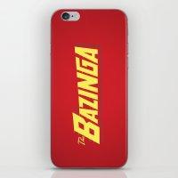 bazinga iPhone & iPod Skins featuring The Bazinga by thom2maro