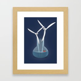 Don't forget to water your wind turbines Framed Art Print